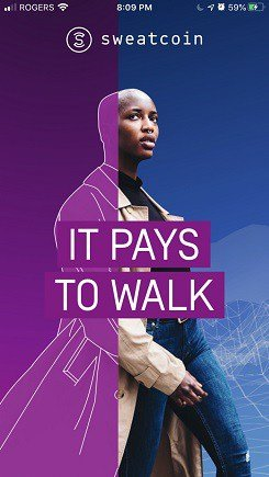 Get paid to walk using Sweatcoin