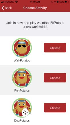 fitpotato choose activity