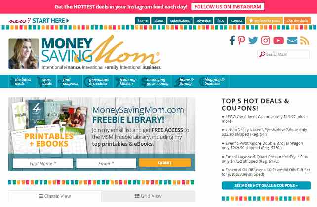 money saving mom by crystal